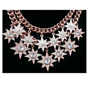 Jewelry - Sparkling Pink Goldtone Statement Necklace